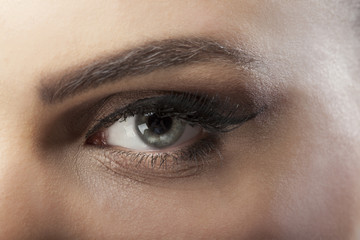 Close up of eye professional make up