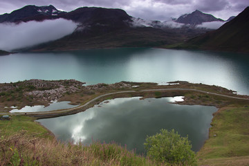 the lake of Mont Cenis, France