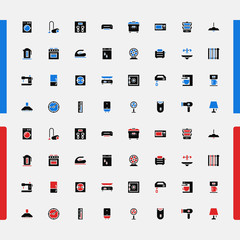 Set icons. Household appliances. Consumer Electronics. Vector.
