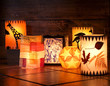 Leinwanddruck Bild - Different handmade lanterns, Sankt Martin