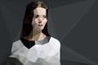 Woman portrait vector geometric modern illustration