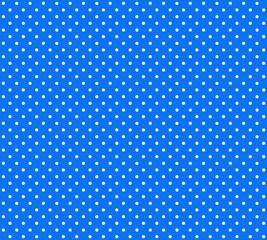 Blauer Hintergrund mit weißen Pünktchen
