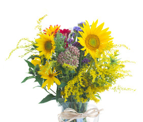 posy of fall autumn flowers