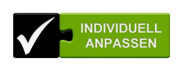 Puzzle Button schwarz grün: Individuell anpassen