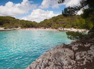 Turqueta beach in Menorca, Spain.