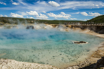 steaming pool