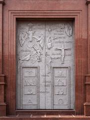Catholic church decorated door