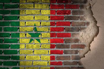 Dark brick wall with plaster - Senegal