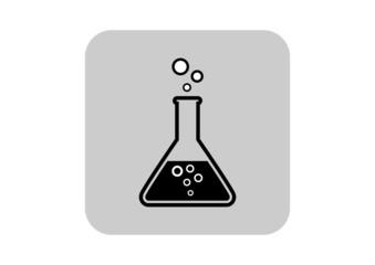 Laboratory glass icon on white background