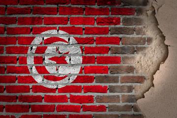 Dark brick wall with plaster - Tunisia