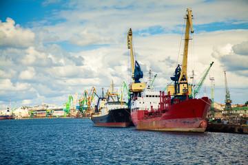 at the port of Klaipeda