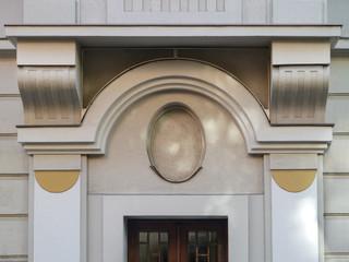 Klassizistische hausfassade