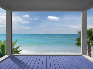 Karibischer Meerausblick