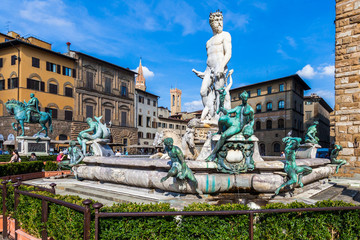 Poseidon Statue in Florence