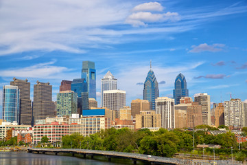 Skyline of Philadelphia downtown, Pennsylvania, USA