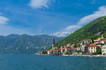 Beautiful landscape of old town Perast
