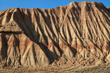 Eroded clay formations in Bardenas Reales