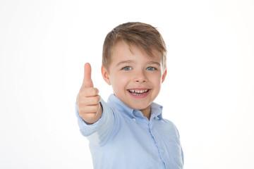 happy child says ok
