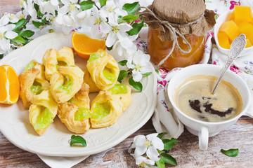 breakfast of fresh scones