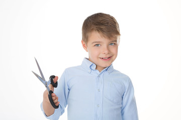 kid on a white background