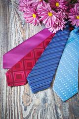 different men's neckties