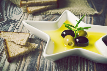 marinated olives in olive oil