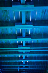Blue Wooden Ceiling