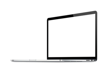 Laptop with Copyspace and Clipping Path
