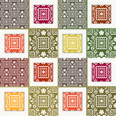 Patchwork seamless lace pattern texture background
