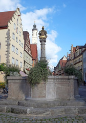 Schöner Brunnen in Rothenburg