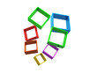 Abstract geometric shapes from cubes - 3d