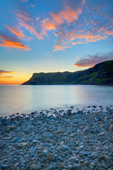 The Talisker Bay on the Isle of Skye at dawn