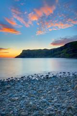 The Talisker Bay on the Isle of Skye at dawn