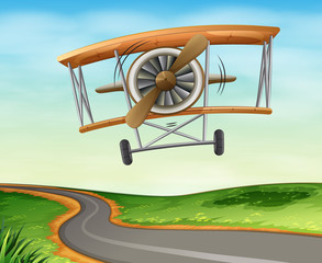 A vintage plane flying