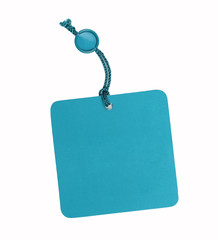 Turquoise, blank label, isolated