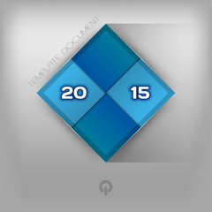 215 Blue Squares