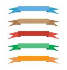 ribbon color set vector illustration