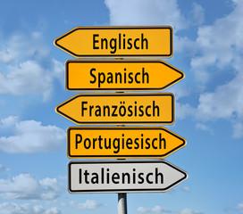 englisch spanisch französisch