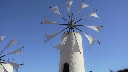 Traditional Greek windmills