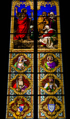 COLOGNE,GERMANY-Stained glass church window