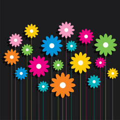 creative colorful flower pattern background vector
