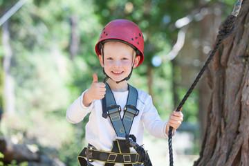 kid at adventure park