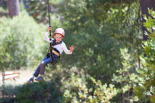 canvas print picture kid at adventure park