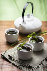 Asian Tea with mint