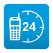 Etiqueta tipo app azul comentario simbolo 24