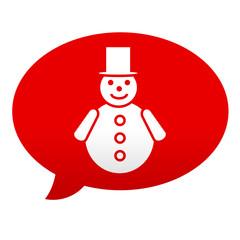 Etiqueta comentario hombre de nieve