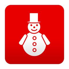 Etiqueta tipo app hombre de nieve