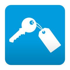 Etiqueta tipo app simbolo llave con llavero