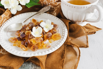 brown sugar and jasmine tea