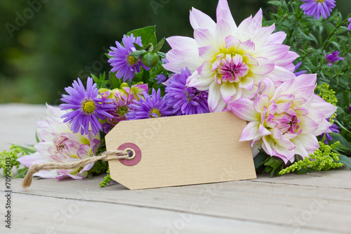 Foto op Canvas Dahlia boquet